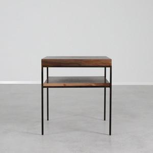 Serrano End Table 20 x 20 x 22 H inches Black Walnut, Steel