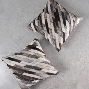 As Shown: Cowhide Pillow  Size: 18 x 18 inches Material: Hair-On Cowhide