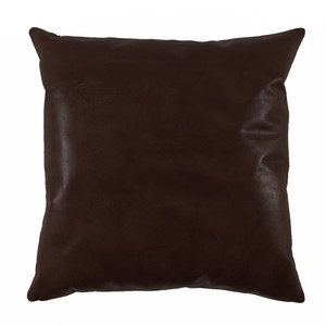 As Shown: Espresso Brown Leather Pillow Size: 20 x 20 inches Material: Leather