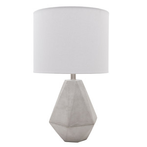 Devereux Concrete Table Lamp - SGN-100 Size: 14 dia x 24.25 H inches Material: Concrete with Linen Shade  Description: