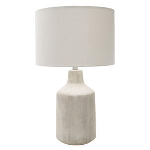 Shoreham Concrete Table Lamp 15 dia x 25 H inches Concrete, Linen Off-White