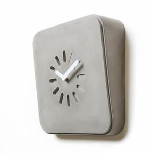 Life in Progresss Clock 11 x 3 x 11 H inches Concrete