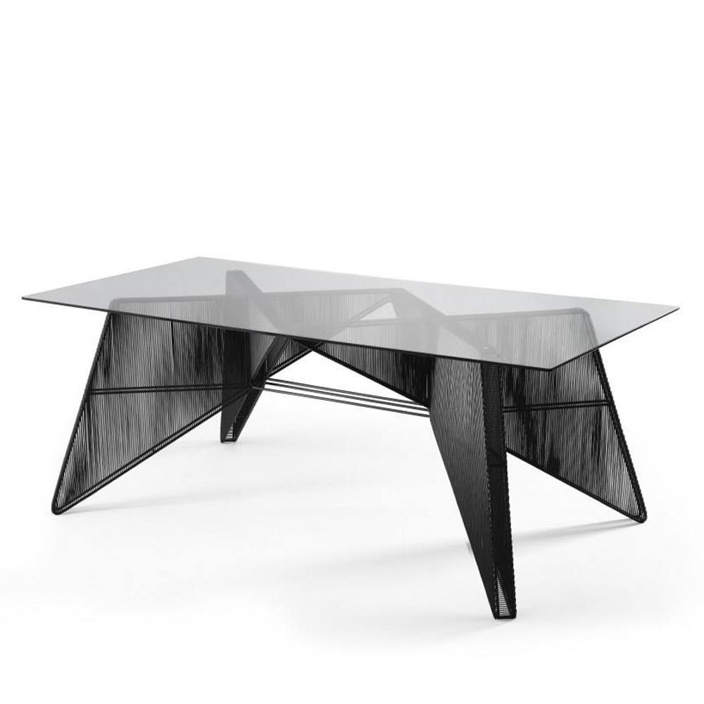 modern black dining table pfeifer studio. Black Bedroom Furniture Sets. Home Design Ideas