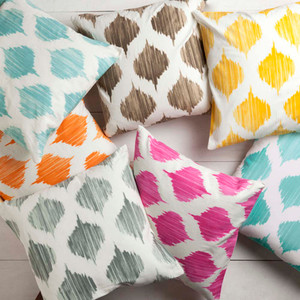 As Shown: Oh Gee! Moroccan Pillow Size: 18 x 18 inches Material: Cotton