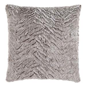 Sculpterra Faux Fur Pillow - FLA-001 18 x 18 inches Polyester