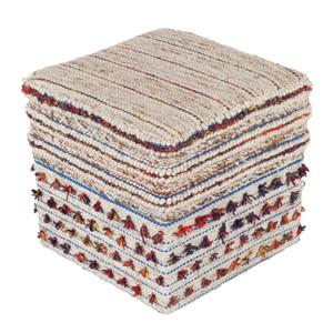 Trujillo Tassel Pouf - SCPF-001 18 x 18 x 18 H inches Viscose, Wool Style A