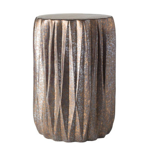 As Shown: Tahiti Ceramic Stool Size: 12.25 dia x 17.25 H inches Material: Ceramic