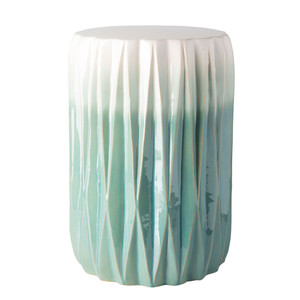 As Shown: Tahiti Ceramic Stool - AYN-001 Size: 12.25 dia x 17.25 H inches Material: Ceramic