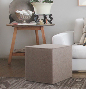 As Shown:  Kräftig Wool Felt Poufs Size: 15.75 x 15.75 x 15.75 H inches Material: Wool Felt Color: Light Brown