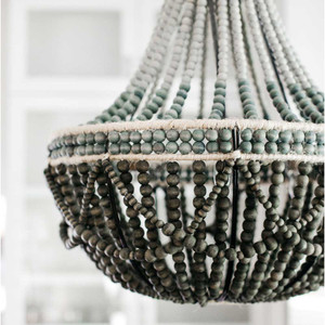 Contemporary wooden bead chandelier pfeifer studio ombr wooden bead chandelier 339000 aloadofball Image collections