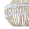 As Shown: Ethereal Wooden Bead Chandelier Size:  24 dia x 28 H inches Material: Wooden Beads
