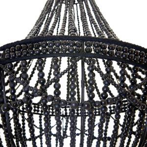noir gloss wooden bead chandelier - Wood Bead Chandelier