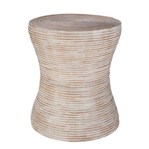 As Shown: Balinese Side Table - BAS-001 Size: 15.5 dia  x 18 H inches Material: Rattan