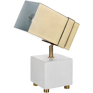 Café Society Marble and Brass Spotlight Lamp