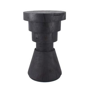 As Shown: Aparato Side Table Size: 14 dia x 22 H inches Finish: Ebony Topcoat: Oiled Finish