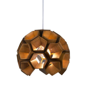 As Shown: Constella Suspension Lamp Size: 16 diameter x 14 H inches Material: Lauan Wood