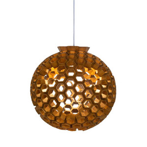 As Shown: Large Constella Suspension Lamp Size: 23 diameter x 23.5 H inches Material: Lauan Wood