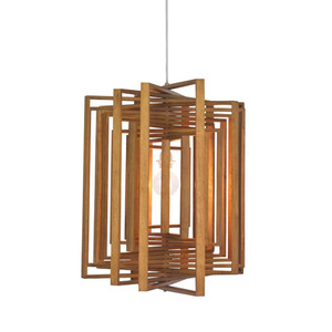 As Shown: Square Twist Suspension Lamp Size: 26.5 x 26.5 x 24 H inches Material: Lauan Wood