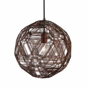 As Shown: Zattelite Suspension Lamp Size: 11.75 diameter x 11.75 H inches Material: Florentine Galvanized Iron Wire