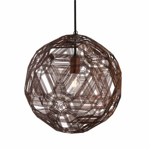 As Shown: Zattelite Suspension Lamp Size: 11.75 diameter x 11.75 H inches Material: Florentine Galvanized Iron Wire
