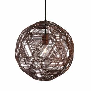 Zattelite Suspension Lamp 11.75 diameter x 11.75 H inches Galvanized Iron Wire Florentine