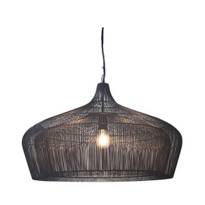 As Shown: Moire Suspension Lamp Size: 26 diameter x 18 H inches Material: Black Galvanized Iron Wire