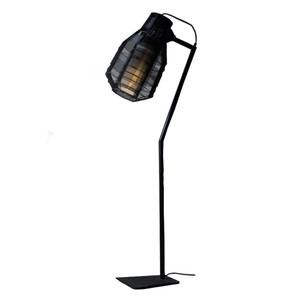 As Shown: Bullet Floor Lamp Size: 14 x 25 x 70 H inches Material: Black Galvanized Iron Wire