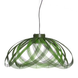 As Shown:  À Côté Suspension Lamp Size: 28.5 diameter x 13.5 H inches Material: Green Galvanized Iron Wire
