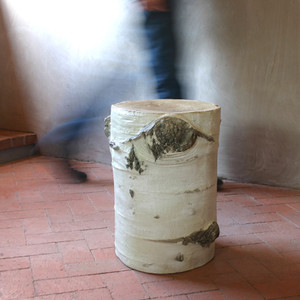 Aspen Stump Stool 15 x 13.5 x 18.75 H inches Fiberglass
