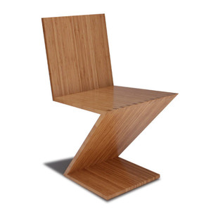 As Shown: Bamboo Zee Chair Size: 18.75 x 20 x 33 H inches Material: 100% Sustainable Bamboo Finish: Caramelized Description: The flirtation with the esthetic of the impossible makes this piece comfortable: it subtly springs, moving naturally with the sitter and the lack of legs also allows unusual freedom of movement and amazing stacking ease. The combination of bamboo and computer joinery has enabled Eugene Stoltzfus to design the kind of pure-form Zee Chair that was not possible in the past. These strong, robust chairs are made without blocking, plates or pins. The Zee Chair's flirtation with the esthetic of the impossible makes it comfortable: the chair subtly springs, moving naturally with the sitter and the lack of legs also allows unusual freedom of movement.