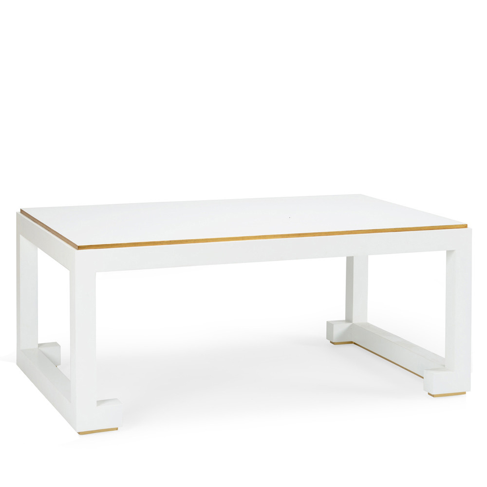 Contemporary White Asian Occasional Table Pfeifer Studio - Chow coffee table