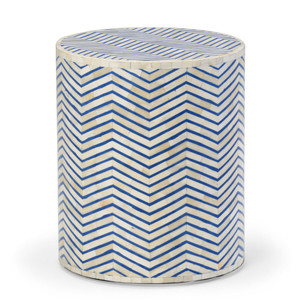 As Shown: Agra Bone Inlay Occasional Side Table Size: 16 x 16 x 18 H inches Material: Bone Inlay