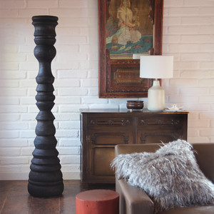 La Silueta Sculpture 16 dia x 78 H inches Ebony Finish Oiled Topcoat