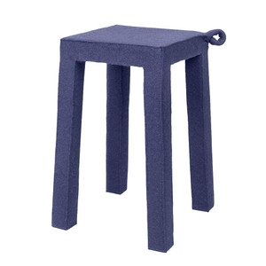 As Shown: Felt Handle Stool Size: 12 x 12 x 18 H inches Material: Felt on Wood