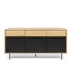 As Shown: Lime Sideboard Size: 63 x 16 x 30 H inches Material: Oak Veneer, Lacquered Wood