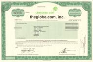 theGlobe.com inc. stock certificate 2001 (dot-com bubble)