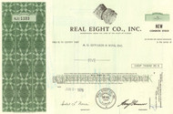 Real Eight Company stock certificate 1970's (treasure ship find)