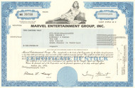 Marvel Entertainment Group, Inc. stock certificate 1998 (comic books)