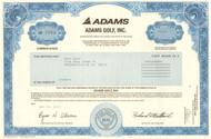 Adams Golf, Inc. stock certificate 2005 (golf clubs)