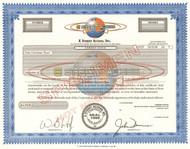 E Street Access Inc. stock certificate specimen 2000 (financial software)
