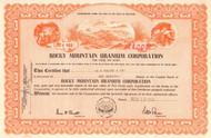 Rocky Mountain Uranium Corporation stock certificate 1954 (mining)