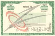 NetZero Inc. stock certificate 2001