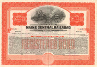 Maine Central Railroad Company $50,000 bond certificate 1935