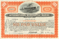 International Mercantile Marine Company stock certificate (owned the Titanic) - orange