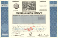 American Skiing Company stock certificate (ski resorts)