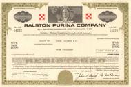 Ralston Purina Company bond certificate 1970's (cereal - pet food)