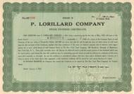 P. Lorillard Company stock dividend certificate 1927 (tobacco)