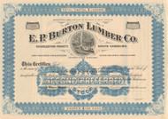 E. P. Burton Lumber Co.  stock certificate circa 1913  (timber)