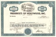 Fredericks of Hollywood stock certificate 1980's (lingerie) - blue