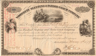 Woodruff Sleeping and Parlor Coach Company stock certificate 1879 (luxury passenger cars)